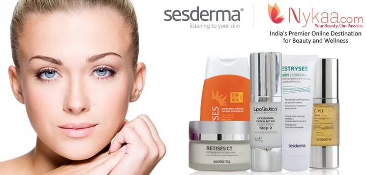 """#NewAtNykaa #Skincare #Sesderma  Beautiful skin now at your door step with another new launch at Nykaa. Shop for the dermatological famous brand in Skincare """"Sesderma"""" . Happy Shopping !  Shop for Sesderma by clicking here : http://www.nykaa.com/brands/sesderma.html"""