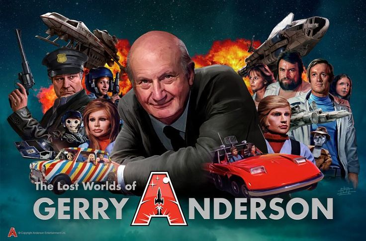 Lost Worlds of Gerry Anderson Poster by Eric Chu from The Gerry Anderson Store