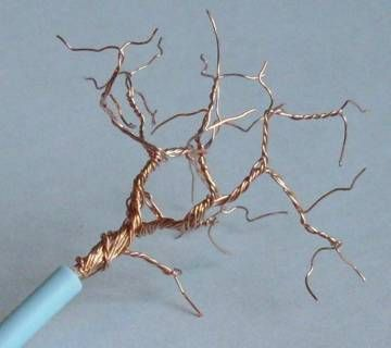 bonsai how to make  mini bonsai trees from electrical wire (in french) lots of photos