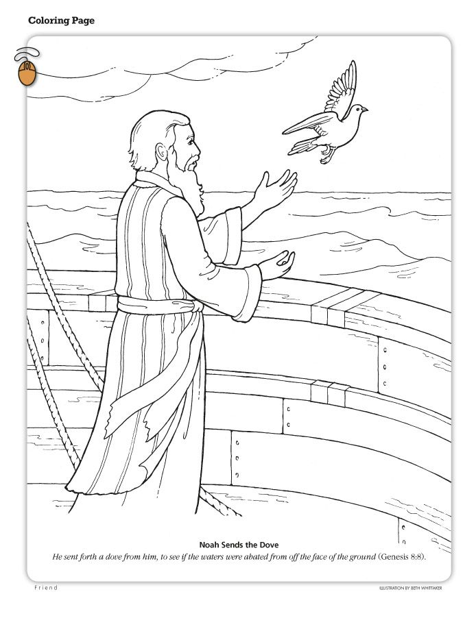 Cute Lds Prayer Coloring Page 32 Noach Noah releases the