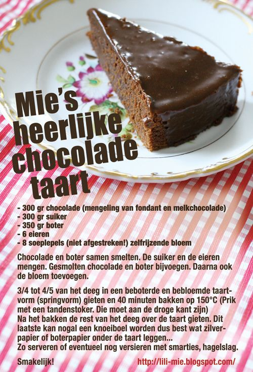 chocoladetaart - Repinning this because it reminds me of the amazing chocolate torte I had in Finland