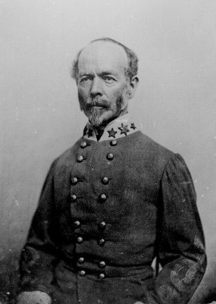 Gen. Joseph E. Johnston, February 3, 1807- March 21, 1891.  He was born near Farmville, Virginia the son of Peter Johnston at Longwood, Cherry Grove.  Attending West Point he graduated with Gen. Robert E. Lee in 1829, after which serving in the Seminole and Mexican wars.  In 1860, he was appointed Quarter Master General of the army, though he resigned his commission, as the civil war divided the nation, to defend his native state.