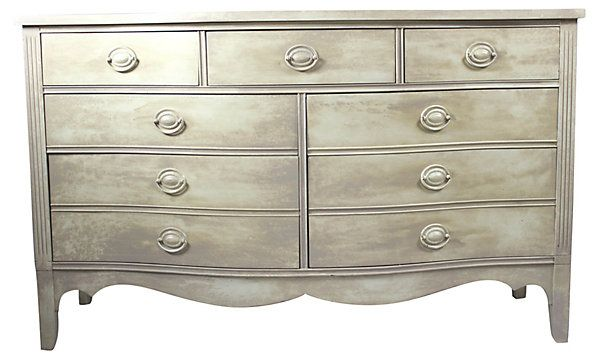 One Kings Lane - Down to Earth - Duncan Phyfe-Style Cream  Dresser