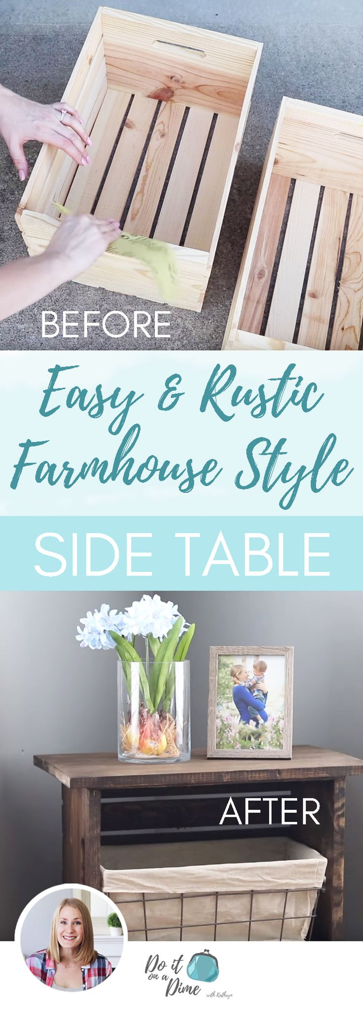 Making Furniture with No Tools! | DIY Rustic Farmhouse Side Table