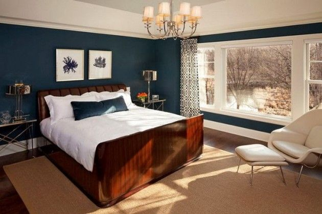 20 marvelous navy blue bedroom ideas kp 39 s lounge for Earthy bedroom designs