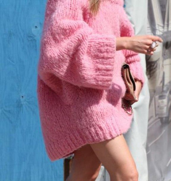 sweater pink rosy girly oversized sweater