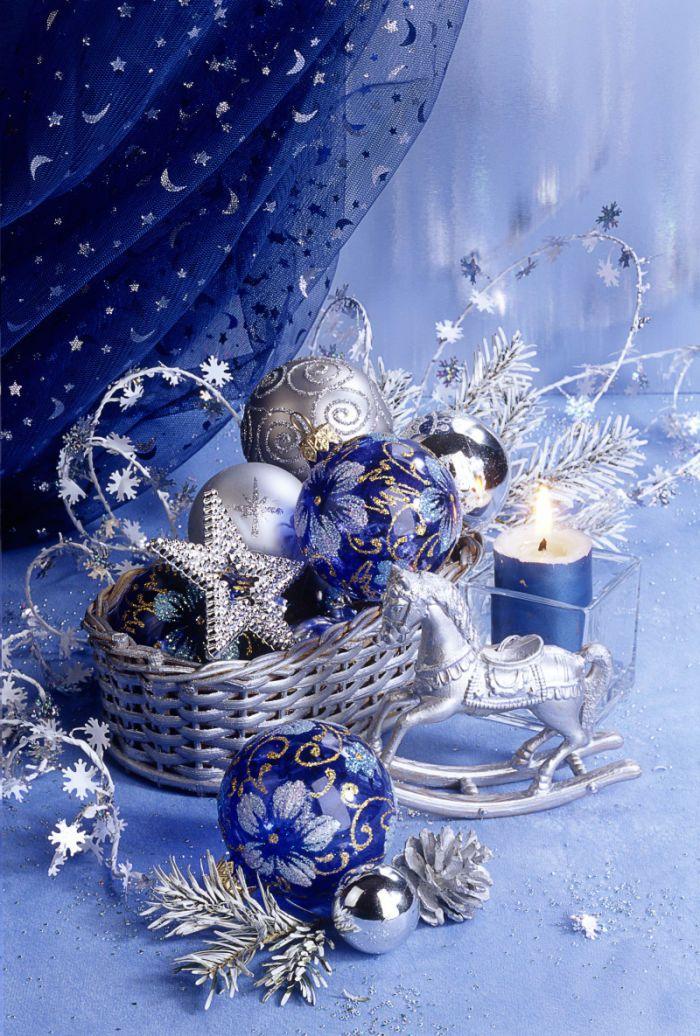 Royal Blue Christmas Ornaments Part - 47: Silver Christmas, Christmas Holidays, Christmas Ornaments, Christmas  Decorations, Merry Christmas, Royal Blue, Dish, December, Wreaths