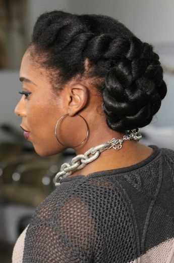 84 best wedding hairstyles for natural hair images on pinterest this sleek classy naturalhair updo would be perfect for a wedding pmusecretfo Images