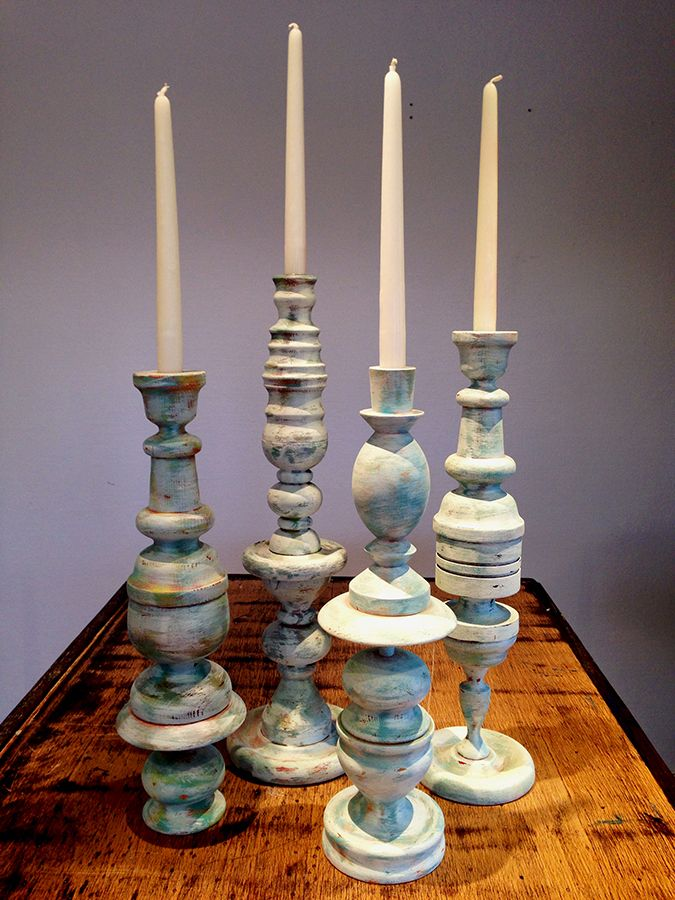 You'll be pleasantly surprised at what these redesigned #candlesticks are made of. #DIY