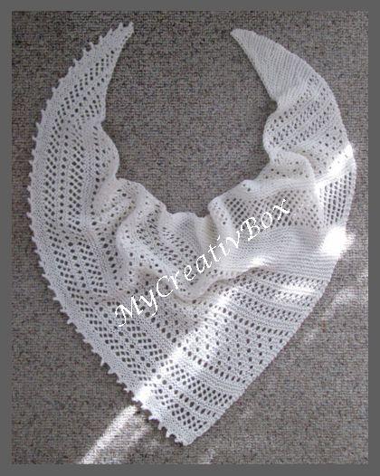 """Tuch """"Twilight II"""", Anleitung von MyCreativBox, Größe: 145 x 40 cm, gestrickt mit Sockenwolle"""