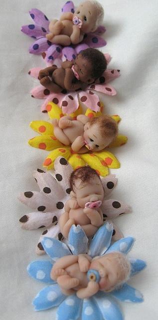 Blooming Babies by Lovinclaydolls, via Flickr