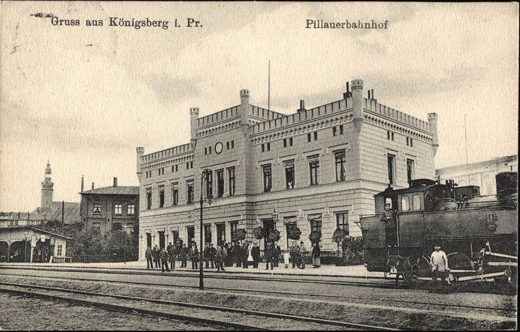 Koenigsberg.. Pillauerbahnhof.. 1867
