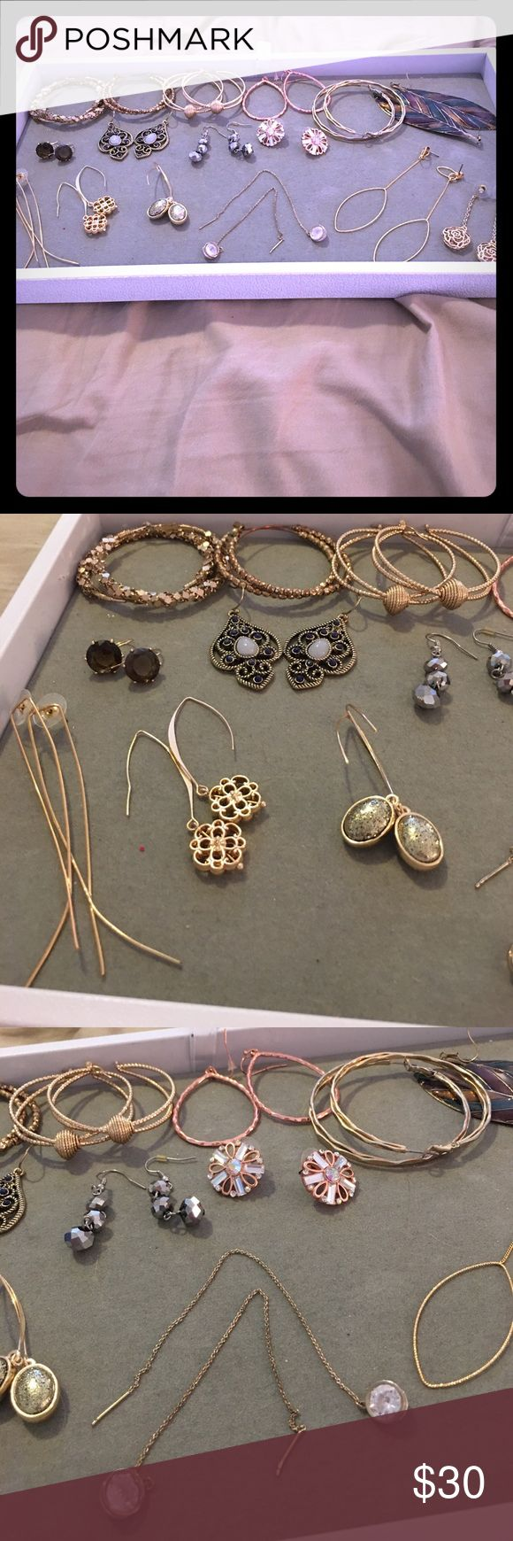 Lot of Earrings NY&Co and more! I have too many pairs I don't wear that I buy on sale.  Most of these are from New York & Company but I think the others are Premier Jewelry and Charlotte Russe. New York & Company Jewelry Earrings