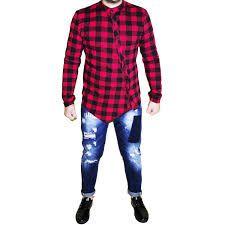 Image result for camicia a quadri rossa e nera uomo