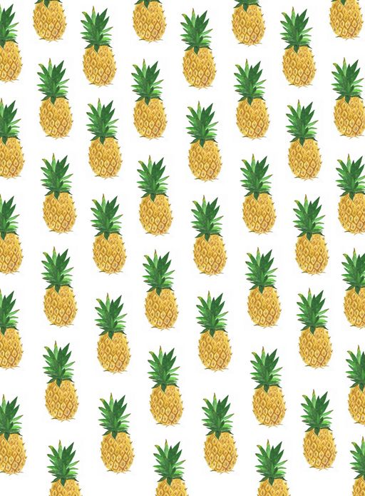 a strip of pineapple wallpaper