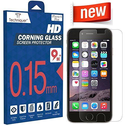 "iPhone 6 Plus Corning Gorilla Tempered Glass Screen Protector Kit[5.5""]ONLY 0.15mm,9H,Oleophobic Surface,2.5D,Anti-Scratch,Anti-Glare,FingerprintProof,& Water Resistant.AT&T Verizon[Lifetime Warranty] Techniquer http://www.amazon.com/dp/B00RK7YIEA/ref=cm_sw_r_pi_dp_aKVPvb0FV0ZTJ"