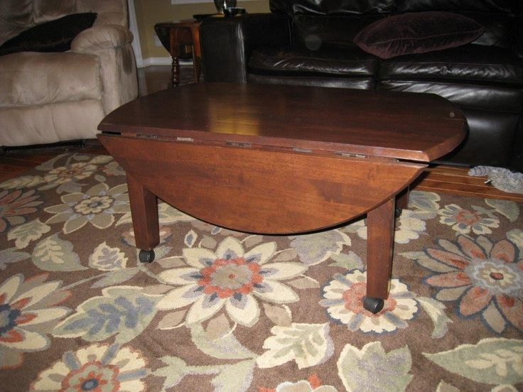 Coffee Table With Fold Down Sides