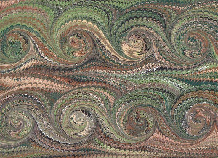 Combed French Curls by Galen Berry:  The French Curl can also be made on a combed pattern.  This pattern has been around for centuries, and can be seen in lots of old bookbindings.