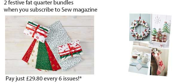 Magazine Subscriptions UK | National Magazine Subscription Offers & Deals ~ receive 2 festive fat quarters when you subscribe