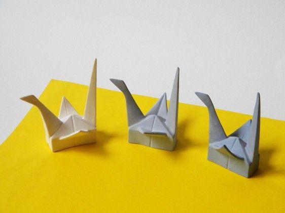 Origami made of ceramics, by Alina Constantin