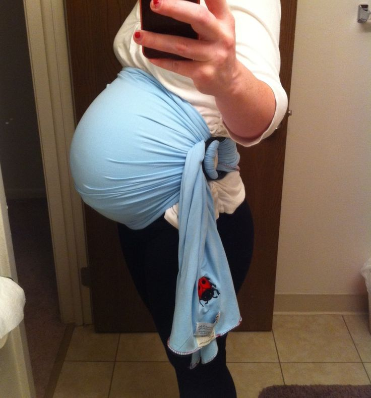 Using A Ring Sling As Pregnancy Support! Excellent Way To