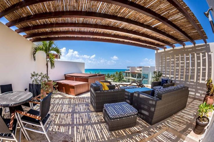 Entire home/apt in Playa del Carmen, Mexico. This oceanfront penthouse is one of the most sought after in all of Playa del Carmen & offers extraordinary ocean views from the main living area and private rooftop! Just steps away from the warm Caribbean waters at the luxury Elements condominiums.