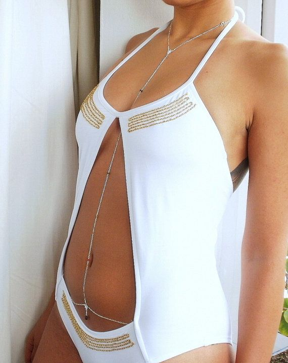 Neck to Belly Sapphire Body Chakra Chain in by AliciasStones  Beautiful!