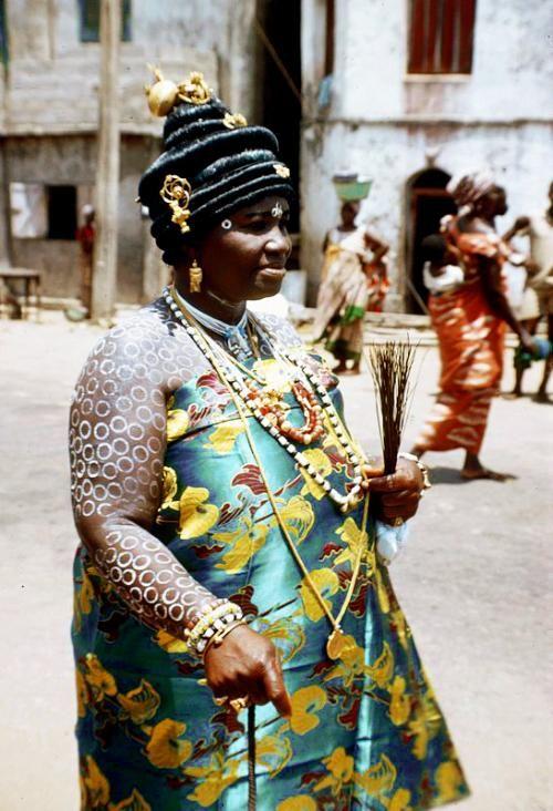 A hair wig, called a Tekyua hairstyle from Ghana.