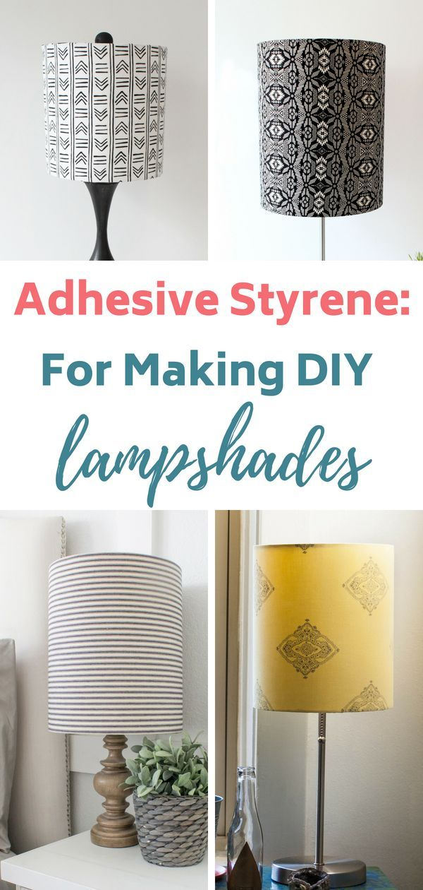 Adhesive Pressure Sensitive Styrene Diy Lampshade Ideas
