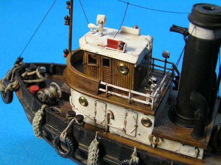 Europeanmodeller Forums > Harbour Tug Boat 1/109 Revell + Evergreen+spares...