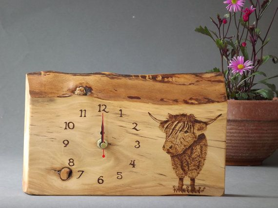 Wooden Clock Hand made Original drawing Made by AldaronWoodcrafts, £55.00