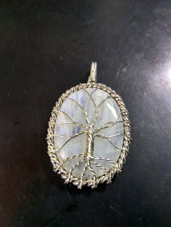 Tree Shape Moonstone Pendant - Jewelry creation by RockSterling
