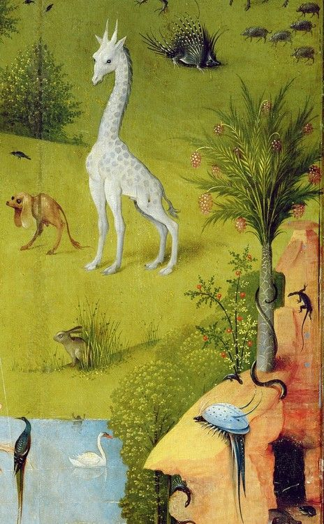 """""""The Garden of Earthly Delights"""" Hieronymus Bosch, oil on wood (detail) circa 1490-1510"""