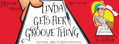LINDA GETS HER GROOVE THING by JD Frettier   LINDA GETS HER GROOVE THING  The Green Room Chronicles book 2by JD Frettier   Genre: Spicy Romantic Comedy  Linda White is on a mission to sic Karma on her cheating ex-husband Grey in this laugh out loud second installment of the erotically incorrect Green Room Chronicles.  After being blindsided with infidelity and financial devastation recently widowed Linda has sworn off men forever. Nearing middle age her dream of retiring early from the…