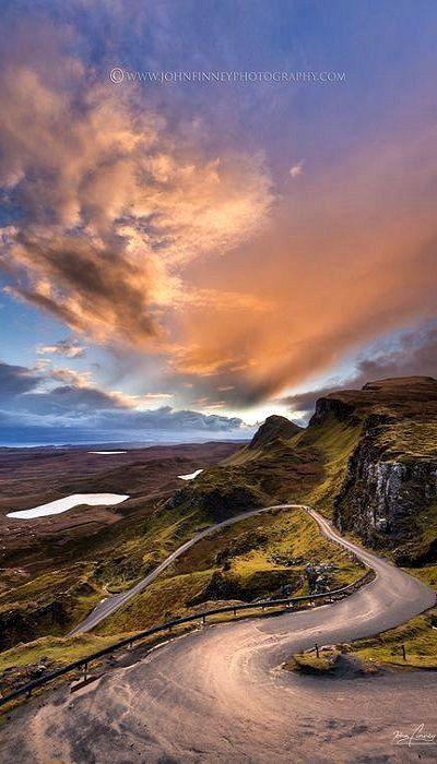 Isle of Skye, Scotland | Awesome photo by John Finney of Sunrise over North Skye, Quiraing