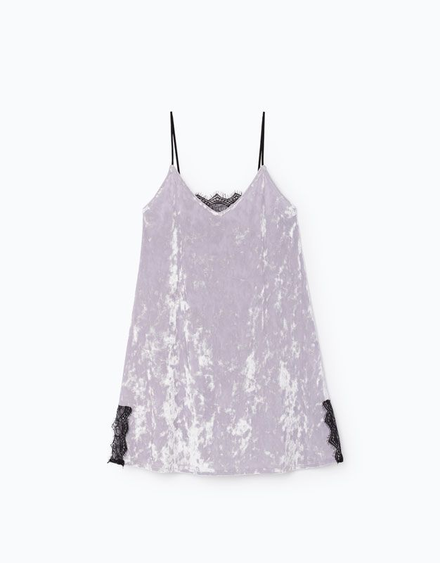 Lefties - vestido velvet encaje - 0-629 - 01061329-V2017