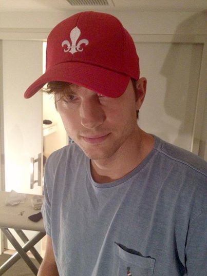 Ashton Kutcher rocking his Gents hat!   #AshtonKutcher #Gentsco