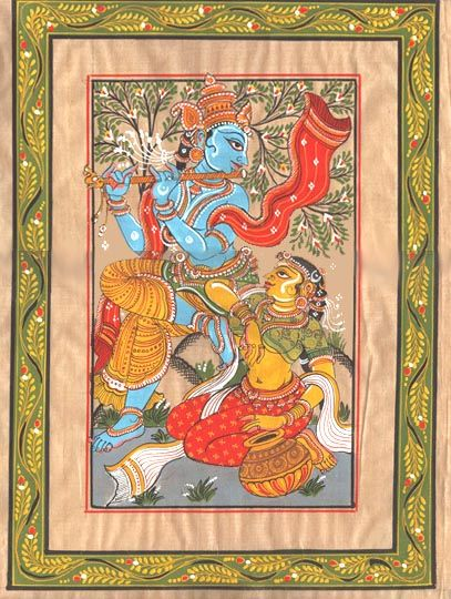 "Pattachitra- ""The only way you can conquer me is through love and there I am gladly conquered""- RadheKrsna"