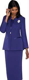 GMI G13273-Purple - Three Piece Usher Suit For Women