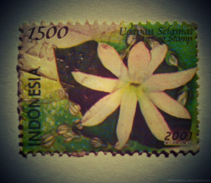 perangko Ucapan Selamat tahun 2001 (Rp 1500)