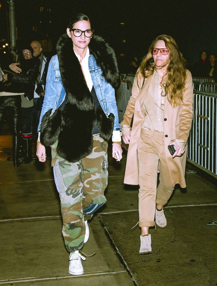 Jenna Lyons and Courtney Crangi at Altuzarra Fall 2017 during New York Fashion Week in New York, New York, February 2017.