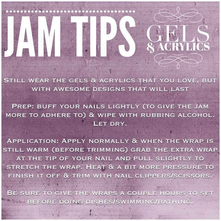 You can have the best of both worlds! Jamberry Nail Wraps work on Acrylic nails too!