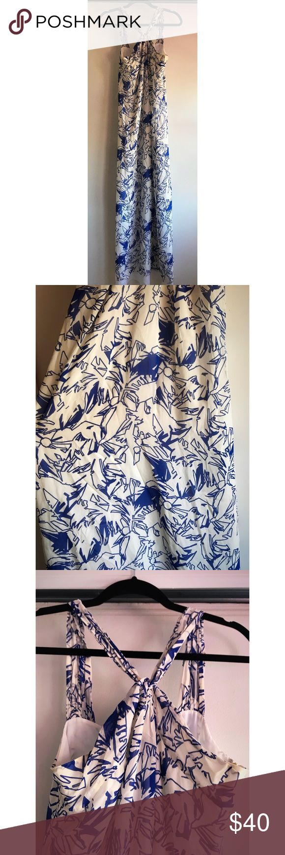 Armani Exchange dress New condition only worn once beautiful blue and white summer dress i bought it on sale for 70$ Armani Exchange Dresses Maxi