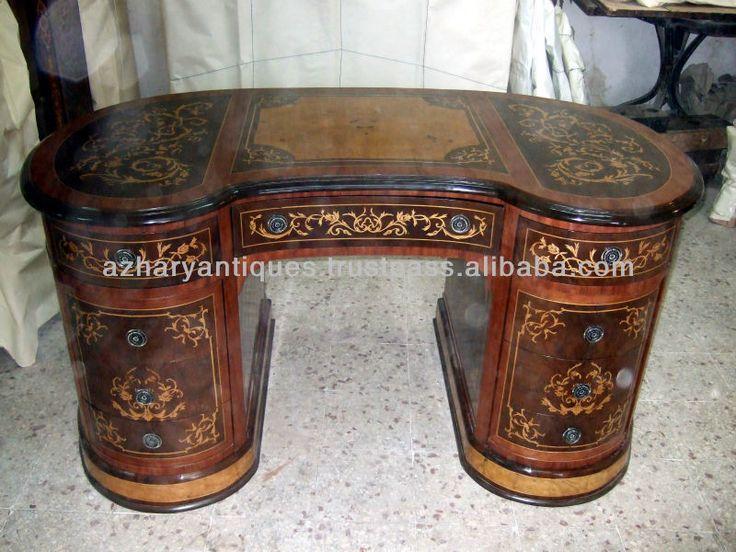 Forma de riñón 9 cajones de estilo luis xv marquetry escritorio-imagen-Mesas de Oficina-Identificación del producto:165125540-spanish.alibaba.com