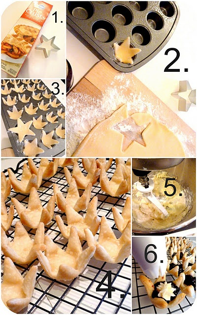 Look at these adorable tarts using a star cookie cutter!  Great Idea!