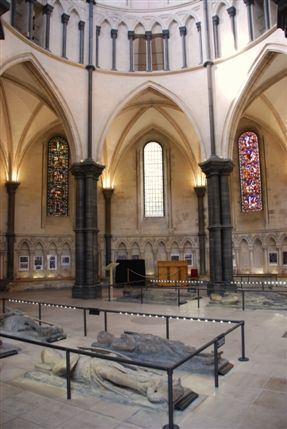 Temple Church sits within the Inner Temple of the Inns of Court, and was originally consecrated in 1185 as the spiritual and actual home of the Knights Templar. The church has a long and powerful history, and survives as one of London's oldest original churches despite it's association with the once powerful order of the Templars.