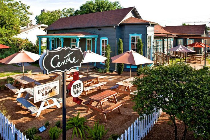 Cenote coffee shop in Austin - Cenote coffee shop patio view. Best coffee in town, seriously!!
