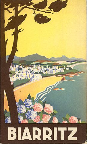 "Travel brochure ""Biarritz,"" circa 1935."