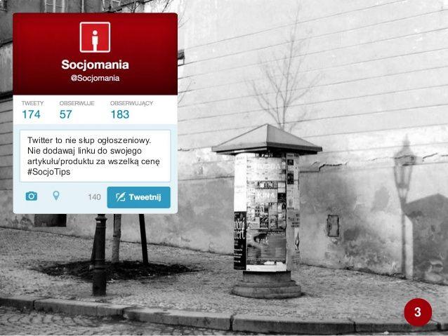 50 Twitter Tips (3). Cała prezentacja: http://www.slideshare.net/Socjomania/50-porad-jak-dziaac-na-twitterze  #Twitter #TwitterTips #SocialMedia #SocialMediaTips