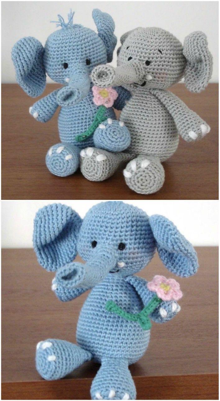 Adorable Crochet Elephant Amigurumi Free Patterns | Crochet ... | 1286x707